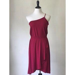 One-Shoulder Midi Dress